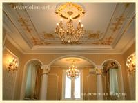 альфрейная роспись в гостиной
