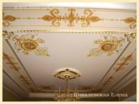 альфрейная роспись потолка
