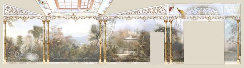 проект для росписи стен,проект художник Ковалевская Елена