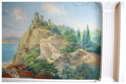 роспись стен,настенная роспись,одежда для стен,роспись Ковалевской Елены