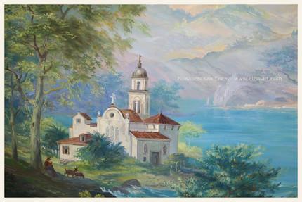 пейзаж,пейзаж Черногория,роспись стен,обманка,пейзаж с морем,роспись стен,настенная роспись,одежда для стен,роспись Ковалевской Елены